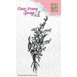(SPCS001)Nellie's Choice Clear stamps Spring Bouquet