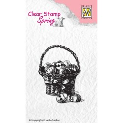 (SPCS002)Nellie's Choice Clear stamps Spring Easter eggs