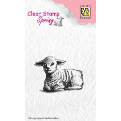 (SPCS003)Nellie's Choice Clear stamps Spring Lamb