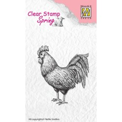 (SPCS005)Nellie's Choice Clear stamps Spring Rooster