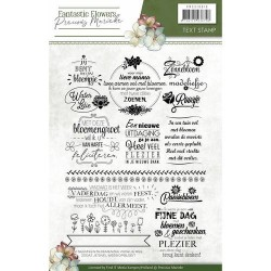(PMCS10019)Clearstamp - Precious Marieke - Fantastic Flowers text