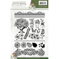(PMCS10018)Clearstamp - Precious Marieke - Fantastic Flowers