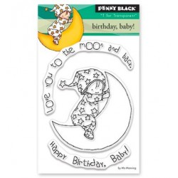 (30-411)Penny Black mini Stamp clear Birthday, Baby!