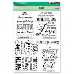 (30-409)Penny Black Stamp clear Faith