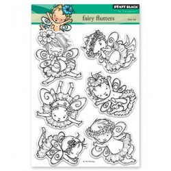 (30-408)Penny Black Stamp clear Fairy Flutters