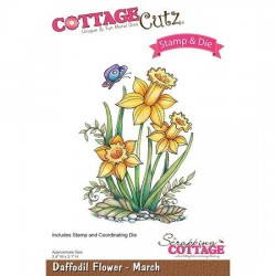 (CCS-004)Scrapping Cottage Daffodil Flower - March +stamp clear