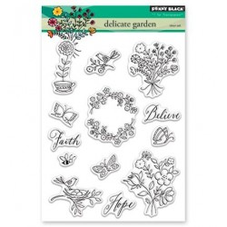 (30-403)Penny Black Stamp clear Delicate Garden