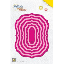 (MFD094)Nellie`s Choice Multi Frame Dies Frames oval