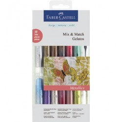 (FC-121814)Faber Castell Mix & Match Gelatos Metallic 15pc
