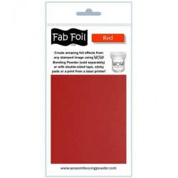 (W216-RE80)Fabulous Foil - Red
