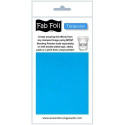 (W216-TU70)Fabulous Foil -  Turquoise