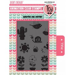 (AS5)Uchi's Design Animation Clear Stamp Growing Garden
