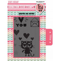 (AS3)Uchi's Design Animation Clear Stamp Loving Cat