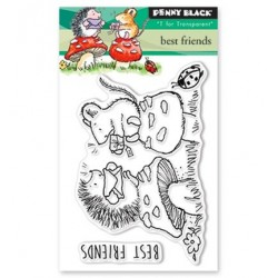 (30-430)Penny Black mini Stamp clear Best Friends