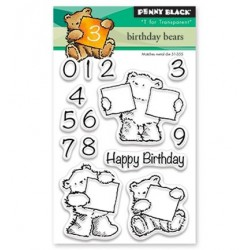 (30-427)Penny Black mini Stamp clear Birthday Bears
