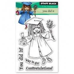 (30-425)Penny Black mini Stamp clear You Did It