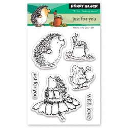 (30-424)Penny Black mini Stamp clear Just For You