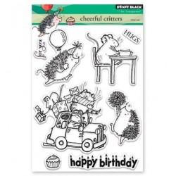 (30-426)Penny Black Stamp clear Cheerfull Critters