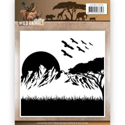 (ADEMB10006)Embossing Folder - Amy Design - Wild Animals