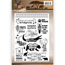 (ADCS10016)Clearstamp - Amy Design - Wild Animals - Tekst