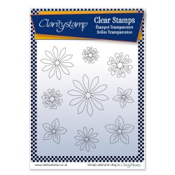 (STA-AN-10515-A5)Claritystamp Tina's  Flowers 1Clear Stamps