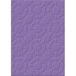 Embossing folder ornament circles