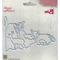 (SD131)Nellie's Shape Dies Christmas window scene-2
