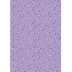 Embossing folder trendy braiding