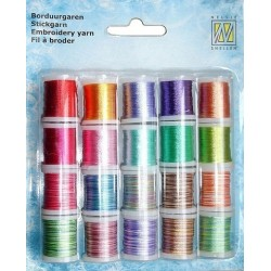 (09.03.09.005)Nellie`s Choice Yarn 20 bobbins embroidery thread set 5