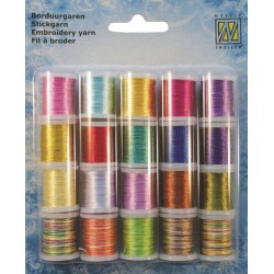 (09.03.09.006)Nellie`s Choice Yarn 20 bobbins embroidery thread set 6