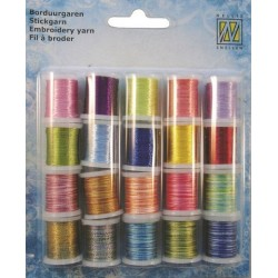 (09.03.09.004)Nellie`s Choice Yarn 20 bobbins embroidery thread set 4