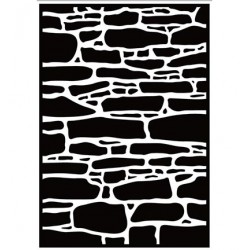 (HSF019)Embossing Folder Stone wall