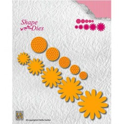 (SD133)Nellie's Shape Dies Flower-4
