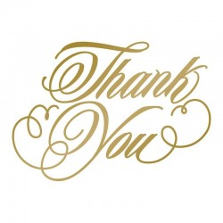 (CO725290)Couture Creations Anna Griffin Foil Stamp Die Thank You