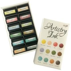 (INK-AT-50225-XX)ARTISTRY INK PADS - () MINI INK PADS & STORAGE - GOLDEN TURMERIC COLLECTION