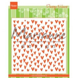 (DF3438)Marianne Design Embossing folder Trendy hearts