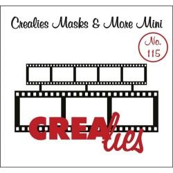 (CLMMM115)Crealies Masks & More Mini no. 115 2x filmstrip