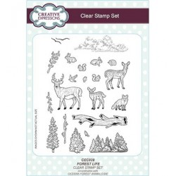 (CEC838)Clear Stamps Set Forest Life
