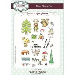 (CEC855)Clear Stamps set Festive Friends