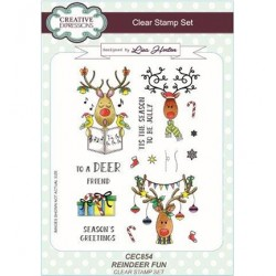 (CEC854)Clear Stamps set Reindeer Fun