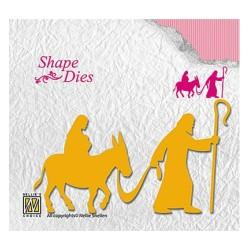 (SD139)Nellie's Shape Dies Nativity