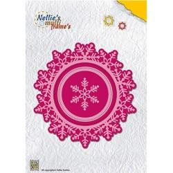(MFD109)Nellie's Multi Frame Dies Wreath Snowflake