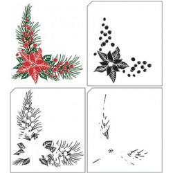 (LCS006)Nellie's Choice clear stamp Layered Christmas Corner-1