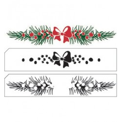 (LCS007)Nellie's Choice clear stamp Layered Christmas Border-11