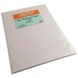(GRO-AC-40024-A4)Groovi Parchment Paper A4 20 Sheets