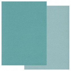 (GRO-AC-40191-A5)Groovi Parchment Paper A5 Two Tone Teal 20 sheets
