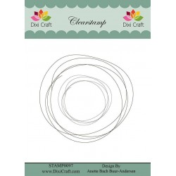 (STAMP0097)Dixi Clear Stamp Hand Drawn Circle