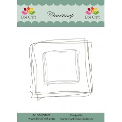 (STAMP0099)Dixi Clear Stamp Hand Drawn Square