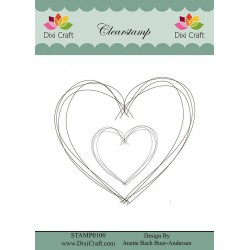 (STAMP0100)Dixi Clear Stamp Hand Drawn Heart