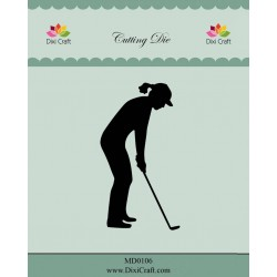 (MD0106)Dixi die Female Golf Player